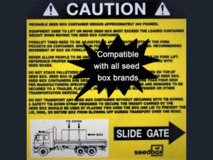 Caution Sticker Right $3<br>Case Quantity: 25